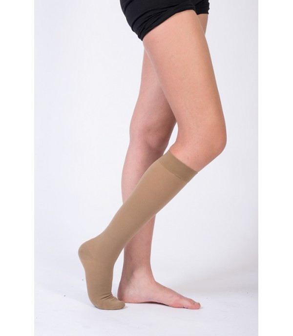 OL-107S Knee Length Compression Stockings Closed Toe