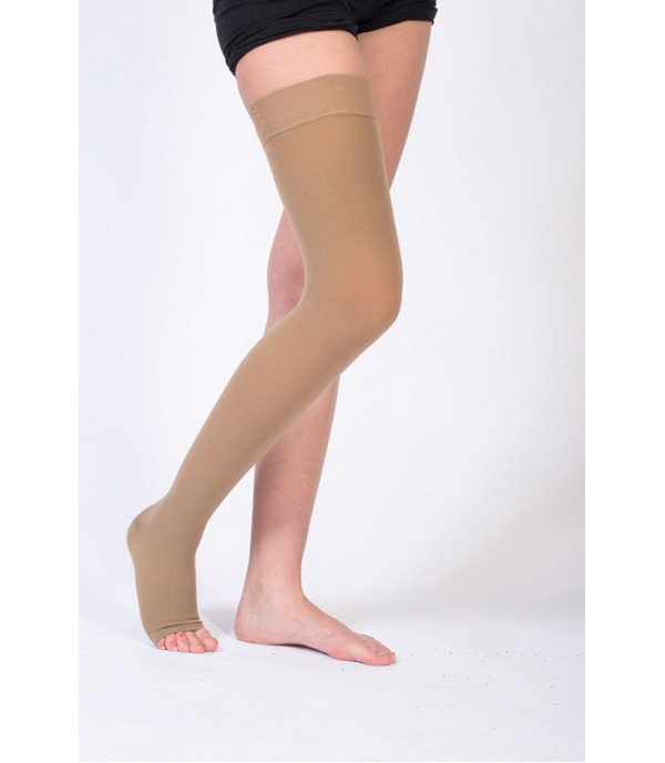 OL-102S Over Knee Compression Stocking Cc1 Open Toe