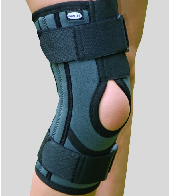 OL-2103A Patella and Ligament Supported knee support (Long) (Open)